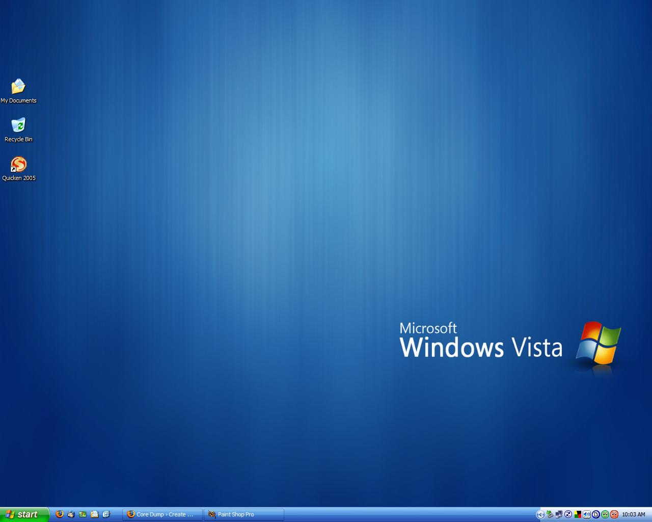 Windows Vista Desktop Windows xp desktop sWindows Vista Default Desktop